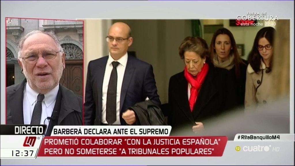 """Ernesto Ekaizer: """"Rita Barberá estaba muy nerviosa en la declaración"""""""