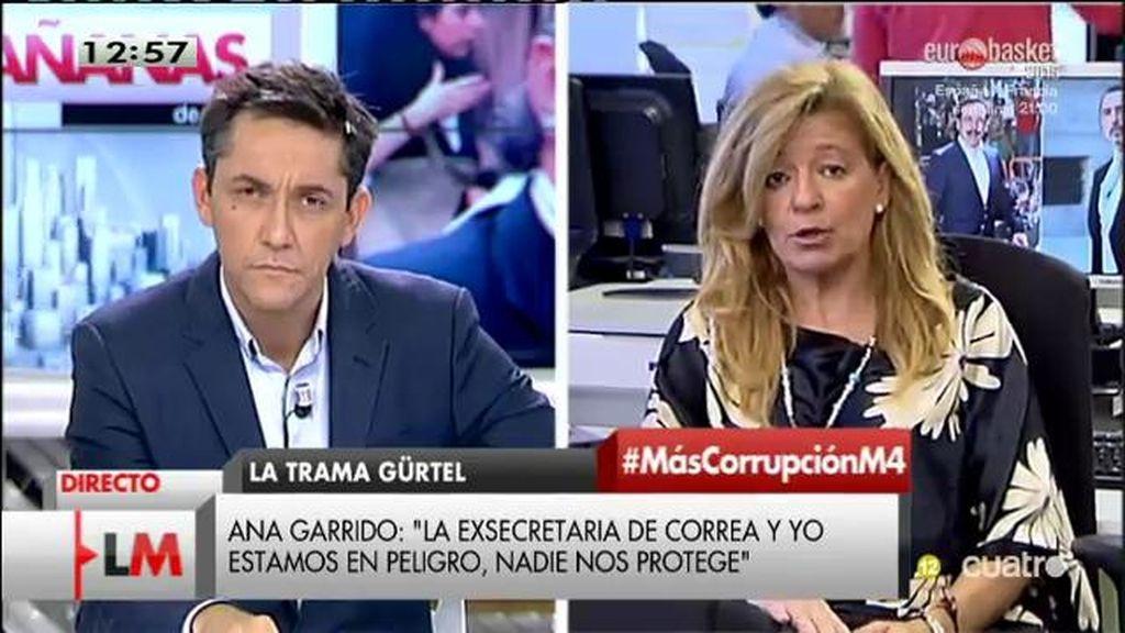 """Ana Garrido: """"Se protege al imputado que filtra información pero cuando nosotors recibimos amenazas no pasa nada"""""""