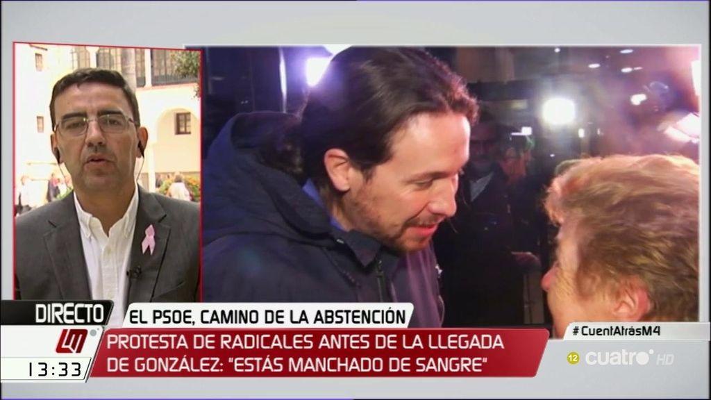 La gestora del PSOE vincula la protesta de la Universidad Autónoma con Pablo Iglesias