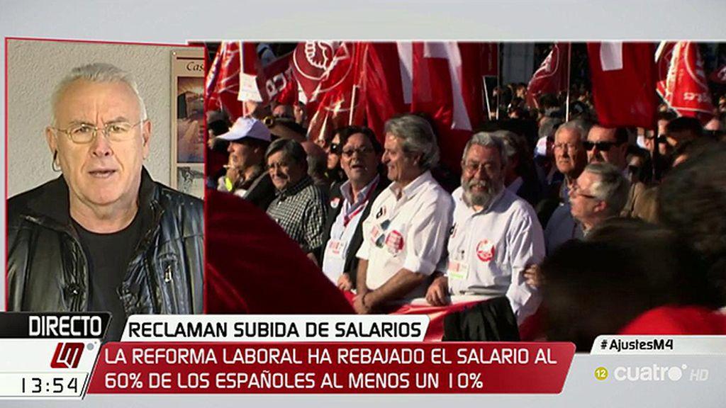 """Cayo Lara lanza un mensaje a Fátima Báñez: """"¿Usted puede vivir con 655 euros?"""""""