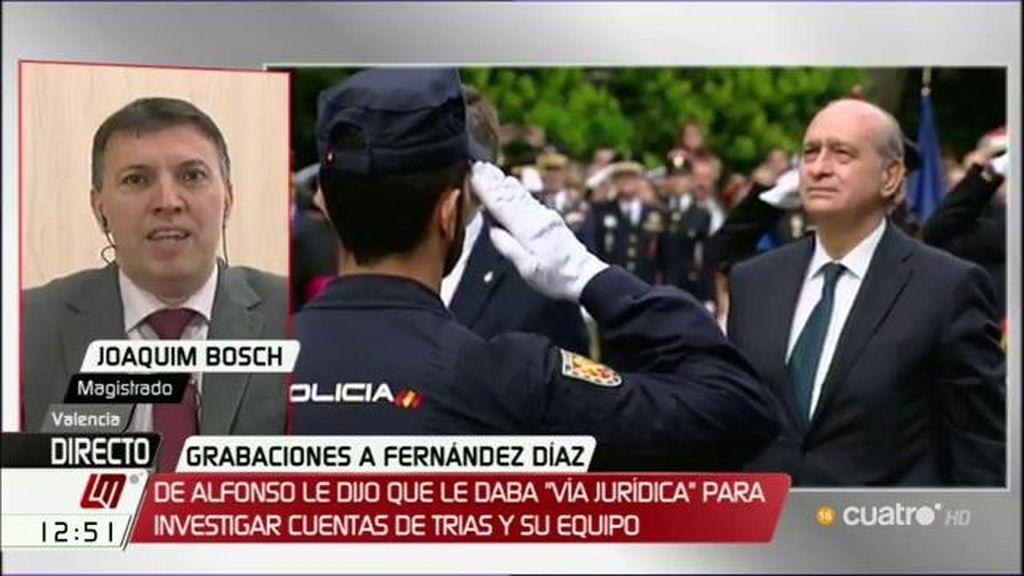 "Joaquim Bosch: ""Las palabras de Fdez. Díaz son inadmisibles en cualquier contexto"""
