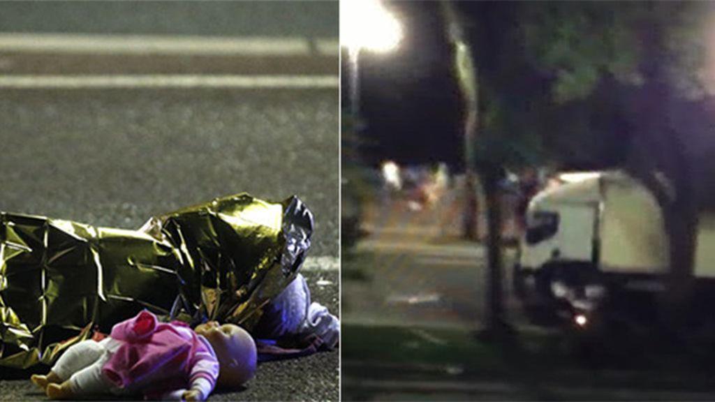 El ataque terrorista de un camión en Niza deja un reguero de sangre y horror