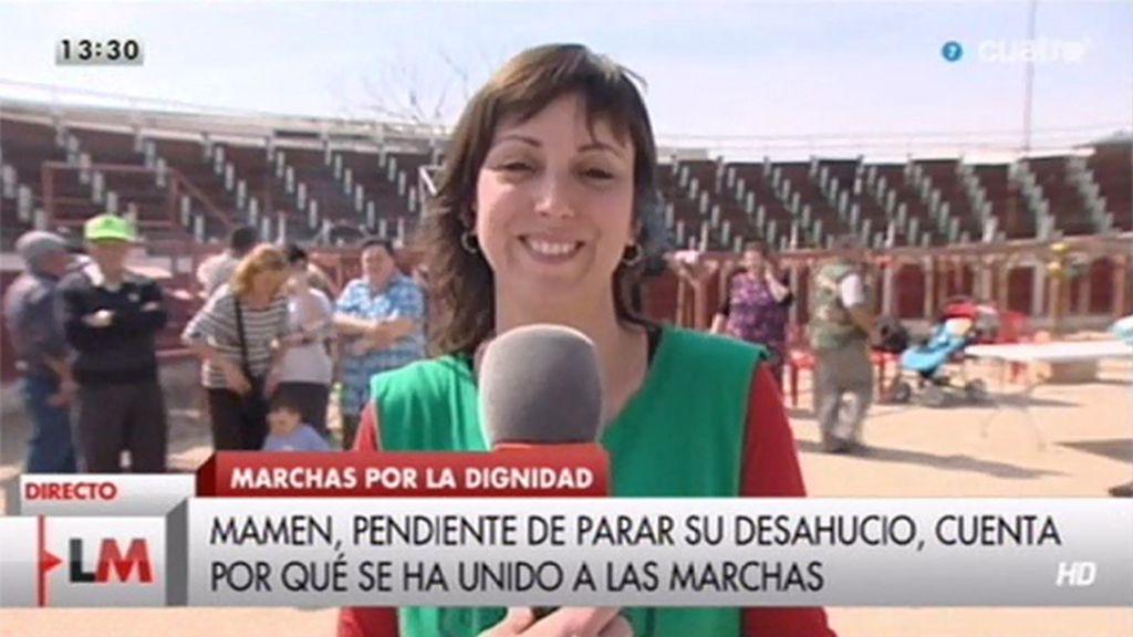 """Mamen Ruiz, de 'Marchas por la dignidad': """"Quieren quitarnos la dignidad pero no lo van a conseguir"""""""