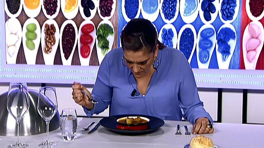"""María Jiménez Latorre, sobre las lentejas de Espe: """"Esto huele a tostado"""""""