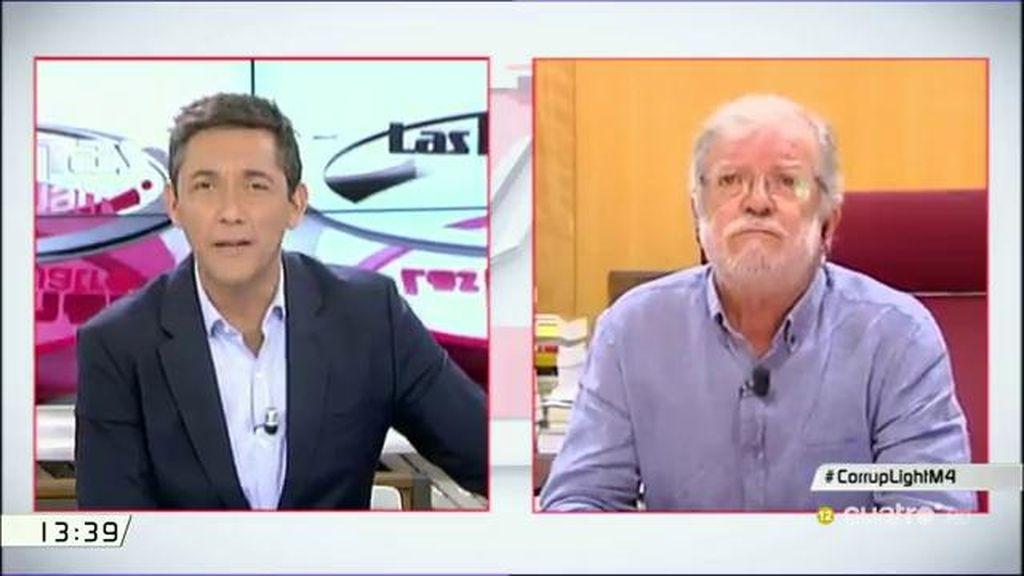 """Rodríguez Ibarra: """"Poner las elecciones en Navidad es un chantaje y eso es corrupción"""""""
