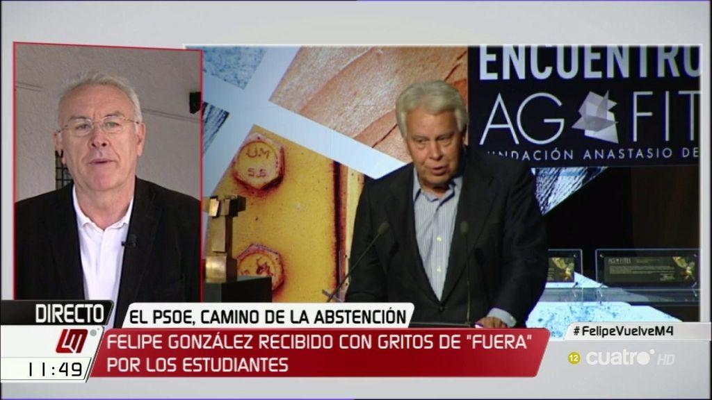 """Cayo Lara: """"Felipe González se ha convertido en el icono de las oligarquías"""""""