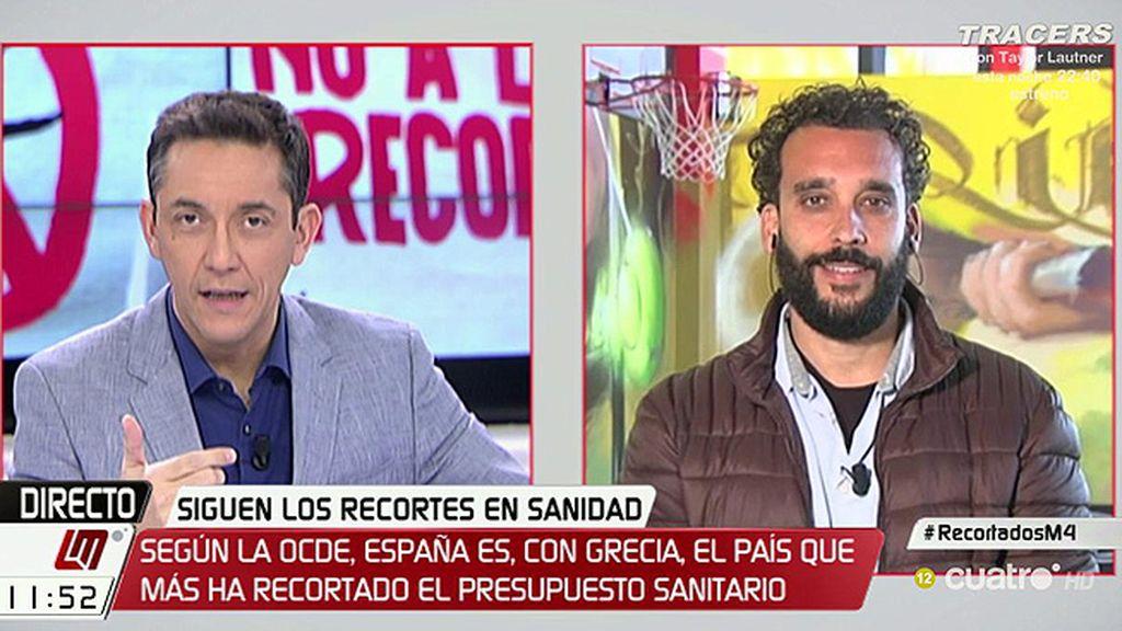 """J. Candel, médico en Granada: """"¿Para qué queremos tantos administradores si lo que se necesitan son medios humanos?"""""""