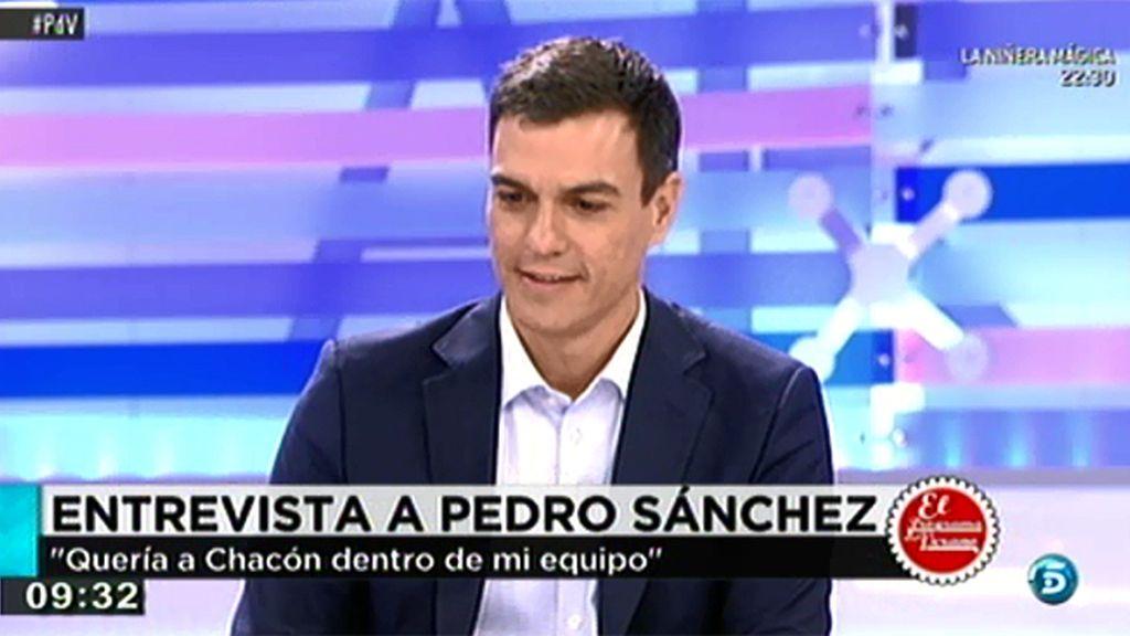 """P. Sánchez: """"Los políticos españoles tienen que demostrar que saben de lo que hablan"""""""