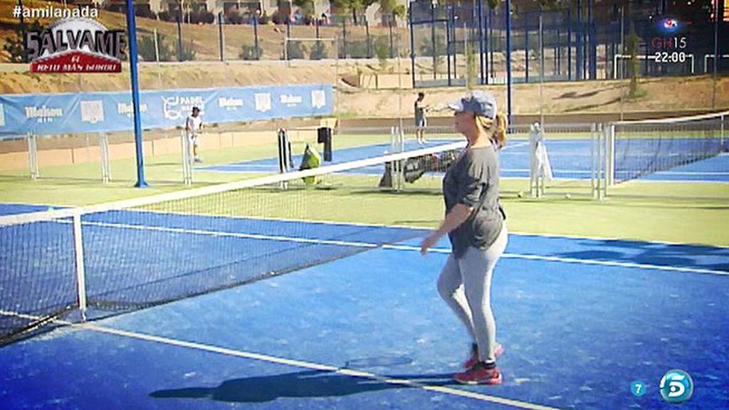 La última sesión de entrenamiento de Mila: un  partido de tenis contra Diego Matamoros
