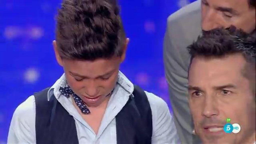 Weryu, el niño flamenco, se pone a llorar al ser eliminado de 'Got Talent'