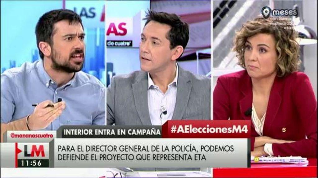 """Ramón Espinar, de Cosidó: """"Este señor está tardando en dimitir"""""""