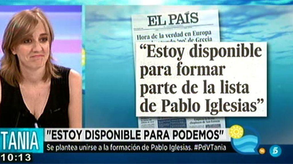 ¿Está disponible Tania Sánchez para formar parte de las listas de Pablo Iglesias?