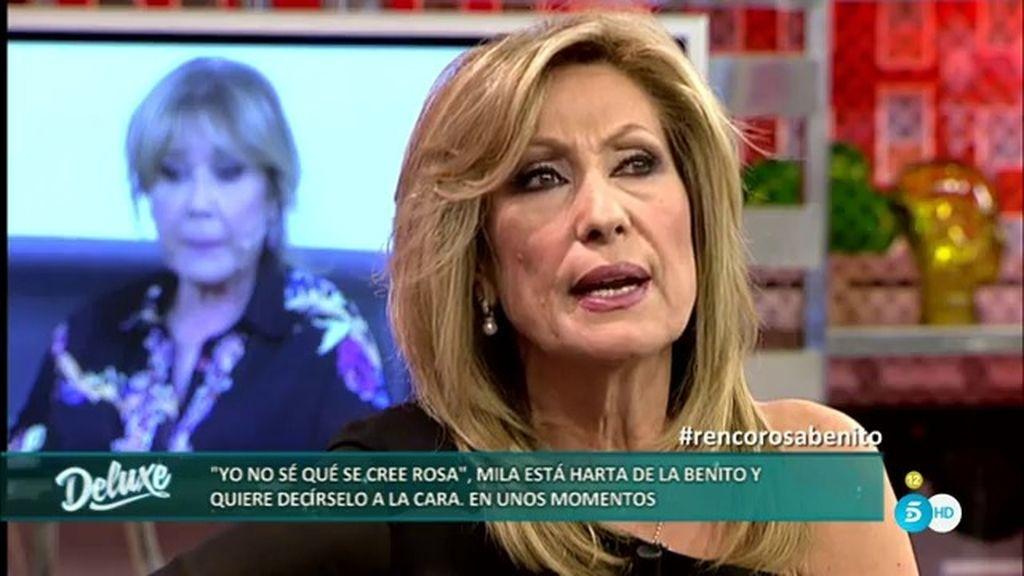 """Rosa: """"Ya se irá viendo si mi paso por 'GH VIP' ha afectado a mi carrera en la televisión"""""""