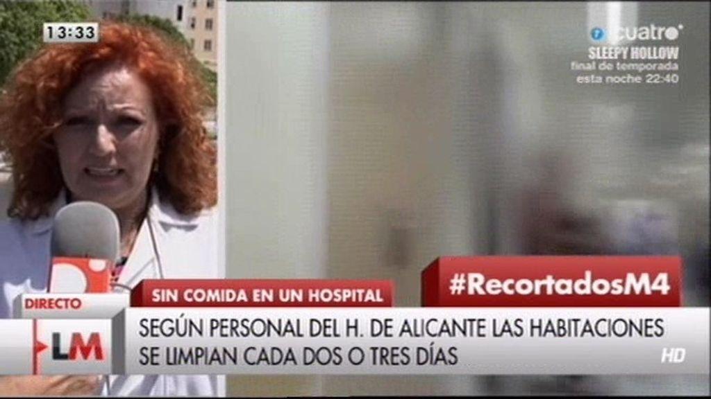 Escasez de comida y falta de higiene en el hospital de Alicante