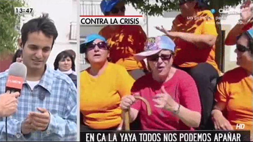 70 vecinos de Fuente la Lancha graban un videoclip homenaje a las abuelas