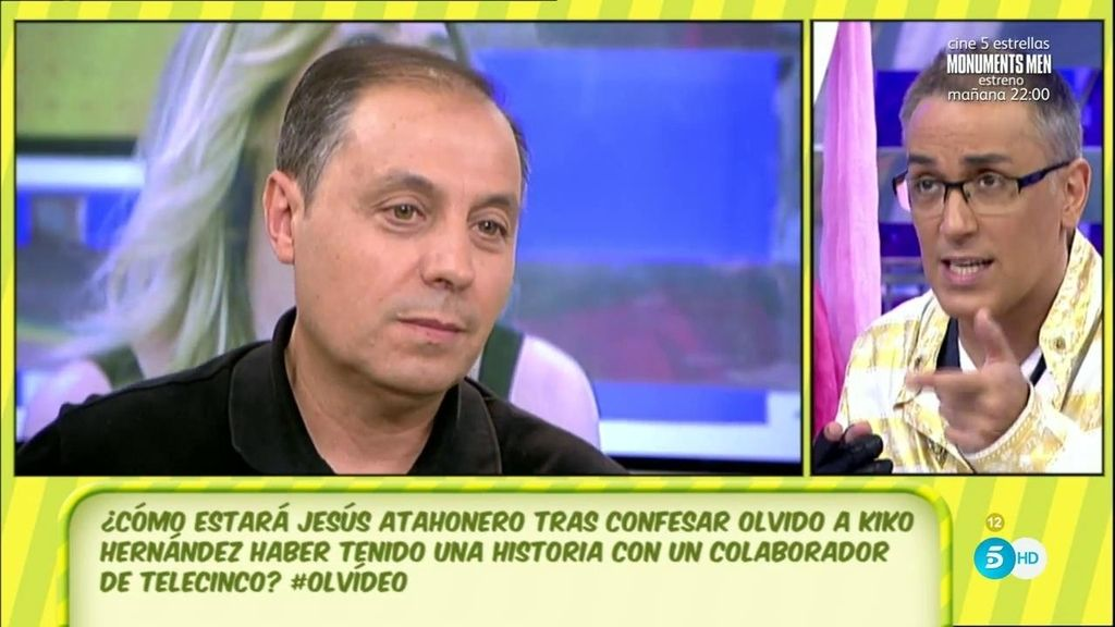 Jesús Atahonero desconoce el nombre del colaborador de Telecinco con quien dice haber estado su mujer, Olvido