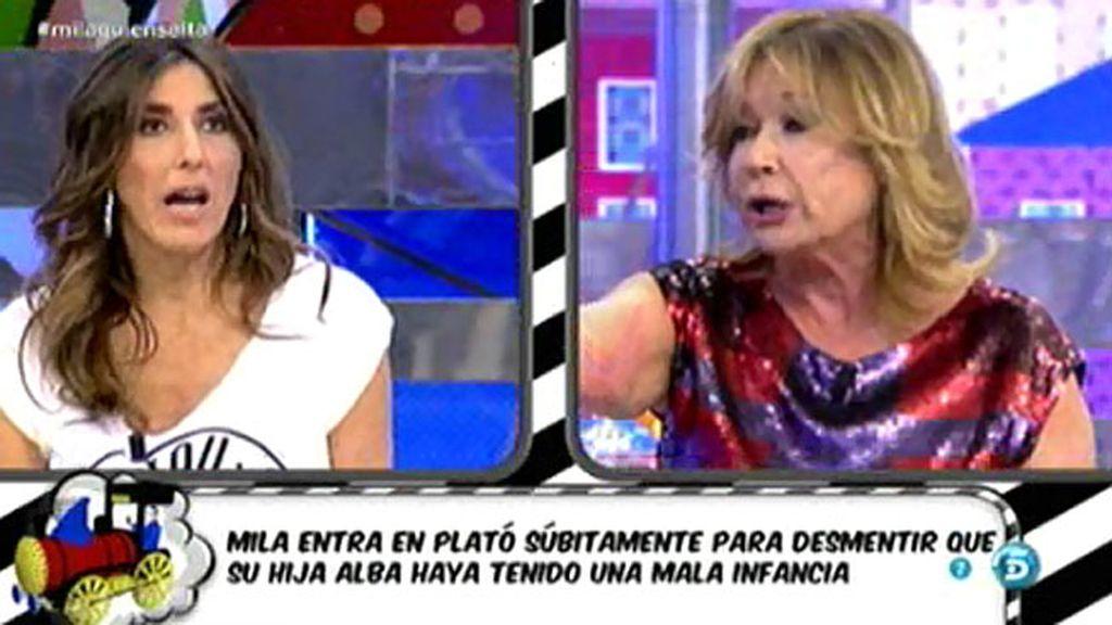 "Mila Ximénez, a Paz Padilla: ""Tú no sabes nada de la infancia de mi hija"""