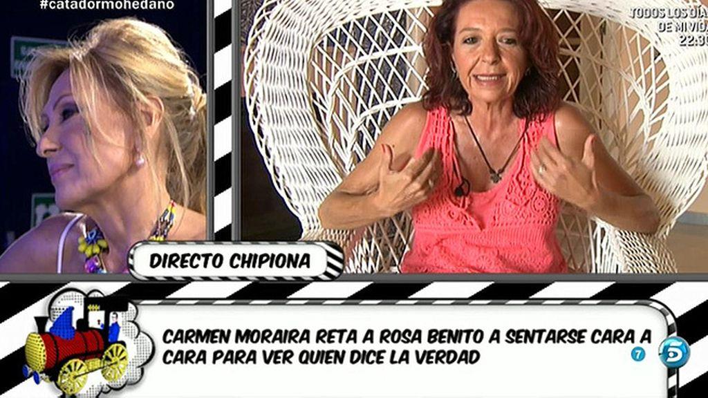 "Carmen Moraira: ""Si Rosa Benito quiere nos sentamos las dos en un polígrafo"""