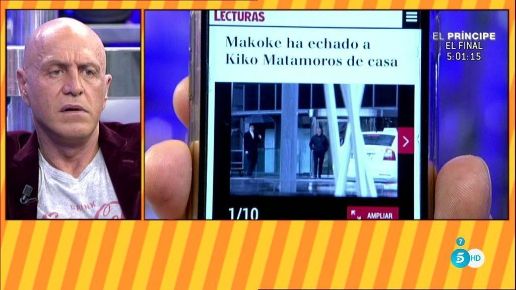 Kiko Matamoros desmiente que su pareja, Makoke, le haya echado de casa