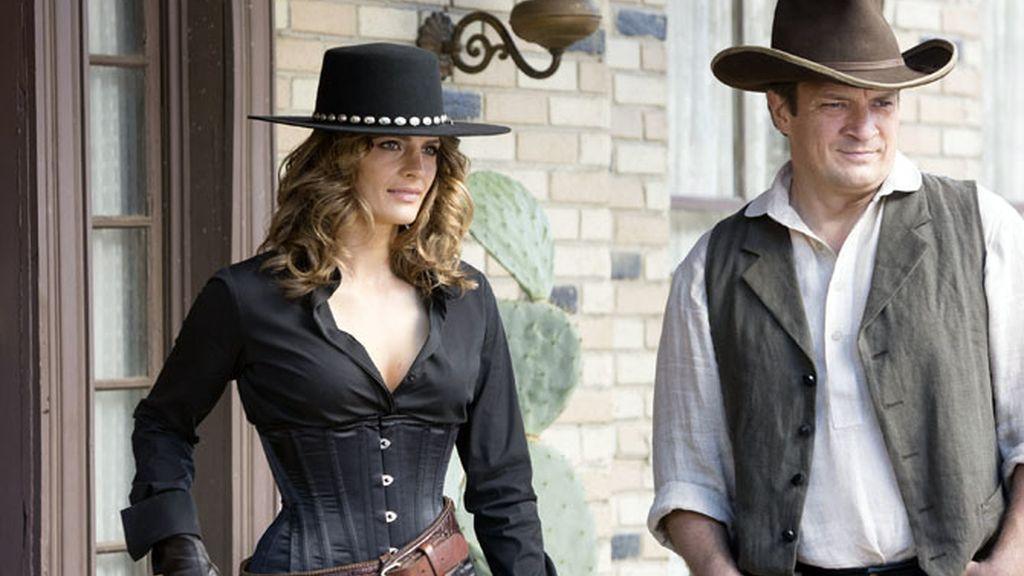 Castle y Beckett viajan al lejano oeste para resolver un caso de asesinato