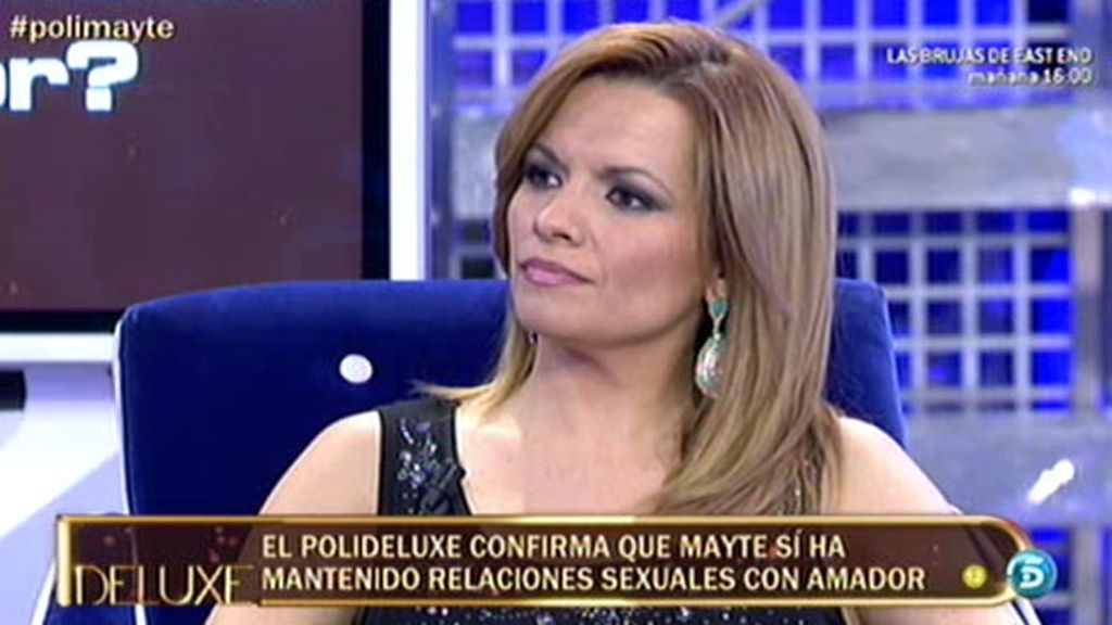 Mayte sí mantuvo relaciones sexuales con Amador Mohedano