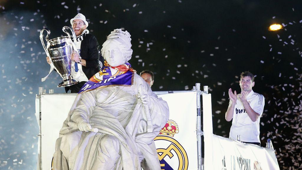 El madridismo estalló en Cibeles tras ganar La Décima Copa de Europa