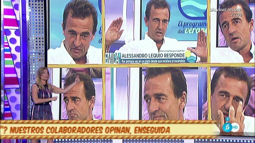 Irene López analiza la actitud de Alessandro Lequio tras su reaparición en televisión