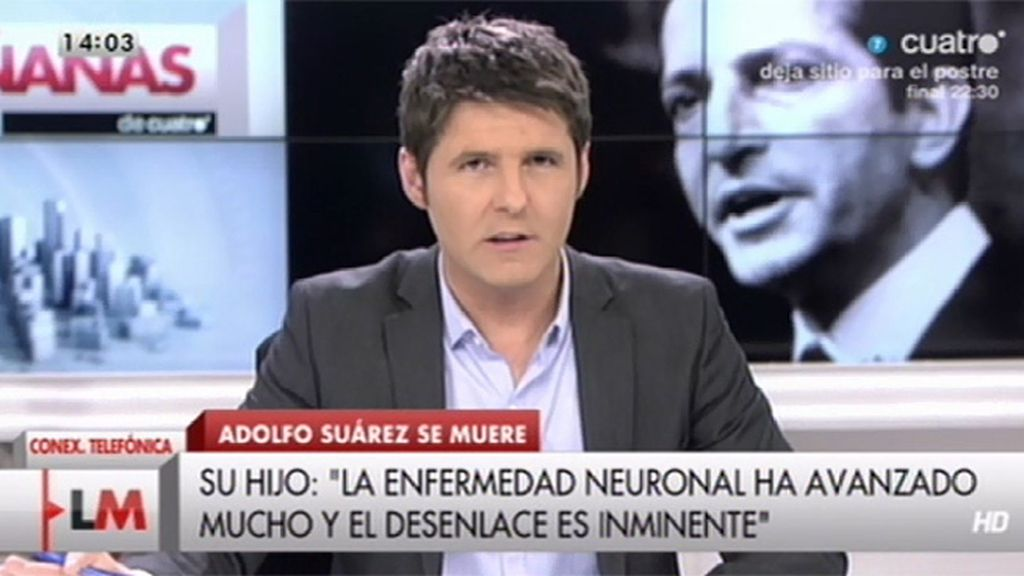 """Anguita, sobre Suárez: """"Cumplió el cometido que tenía que hacer y se merece el respeto"""""""