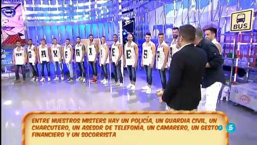 Jorge Javier tiene que adivinar a qué se dedican los candidatos de Mr Gay España