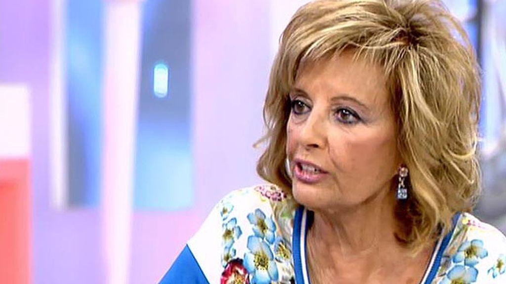 """M. T. Campos: """"Espero que Terelu se lo piense mucho a la hora de tener una relación"""""""