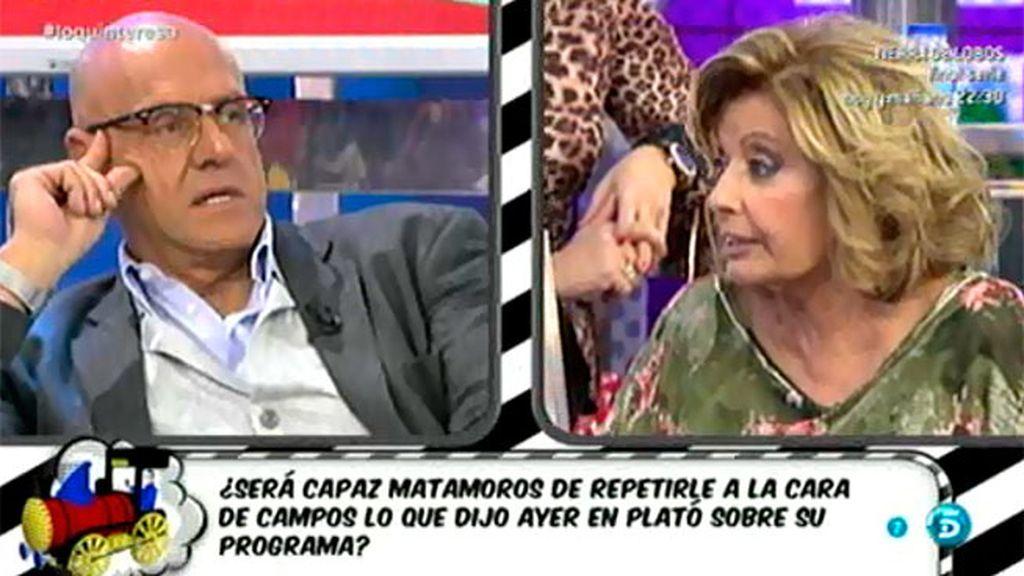 El pique de Teresa Campos y Matamoros