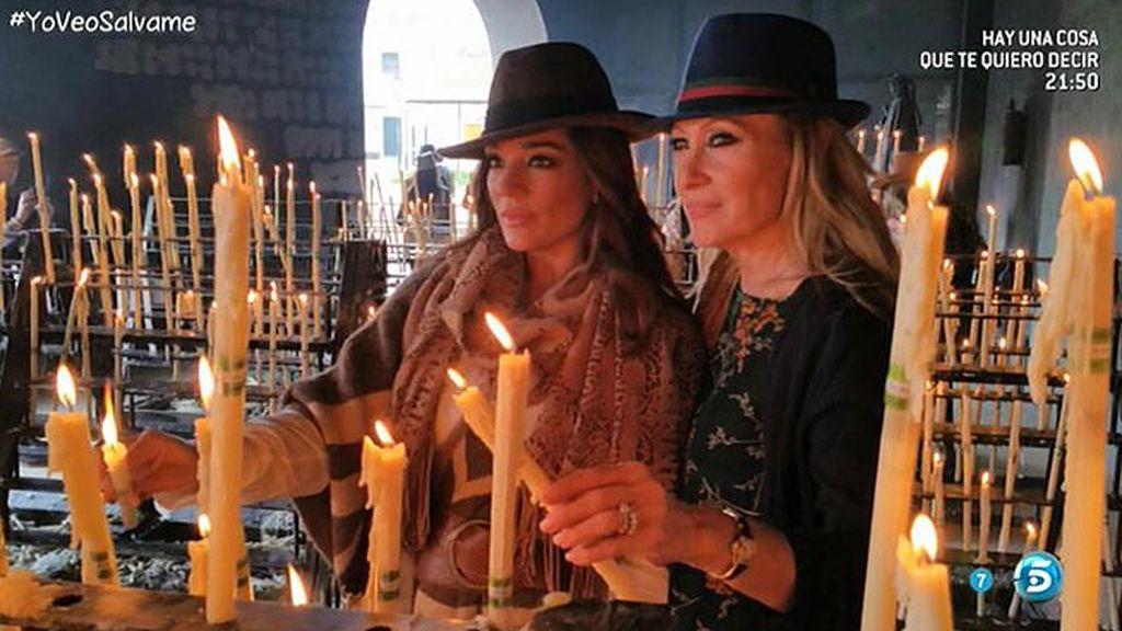 Raquel Bollo y Rosa Benito, juntas en la Fiesta de la Candelaria
