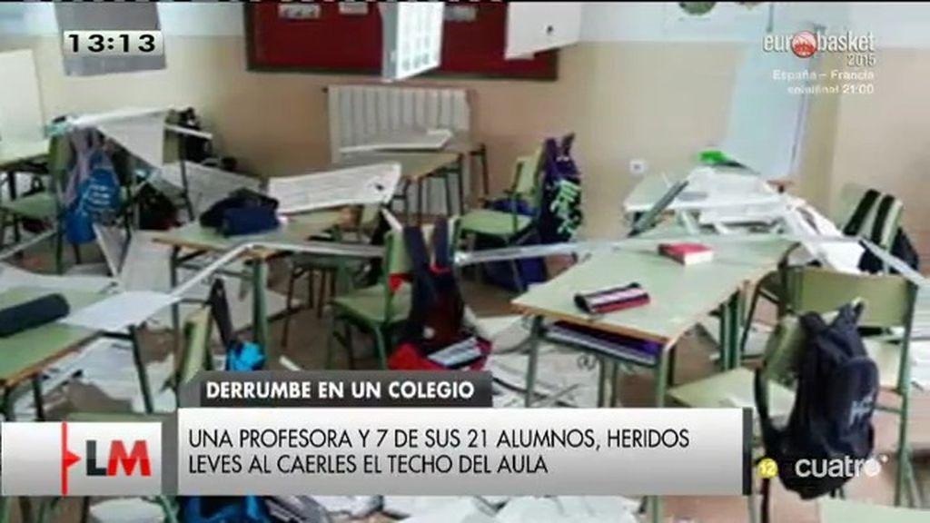Una bolsa de aire provoca el derrumbe del techo del colegio El Casar de Escalona