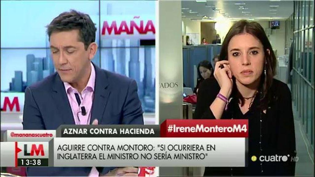 """Irene Montero: """"Siempre consultamos las cuestiones importantes a la gente"""""""