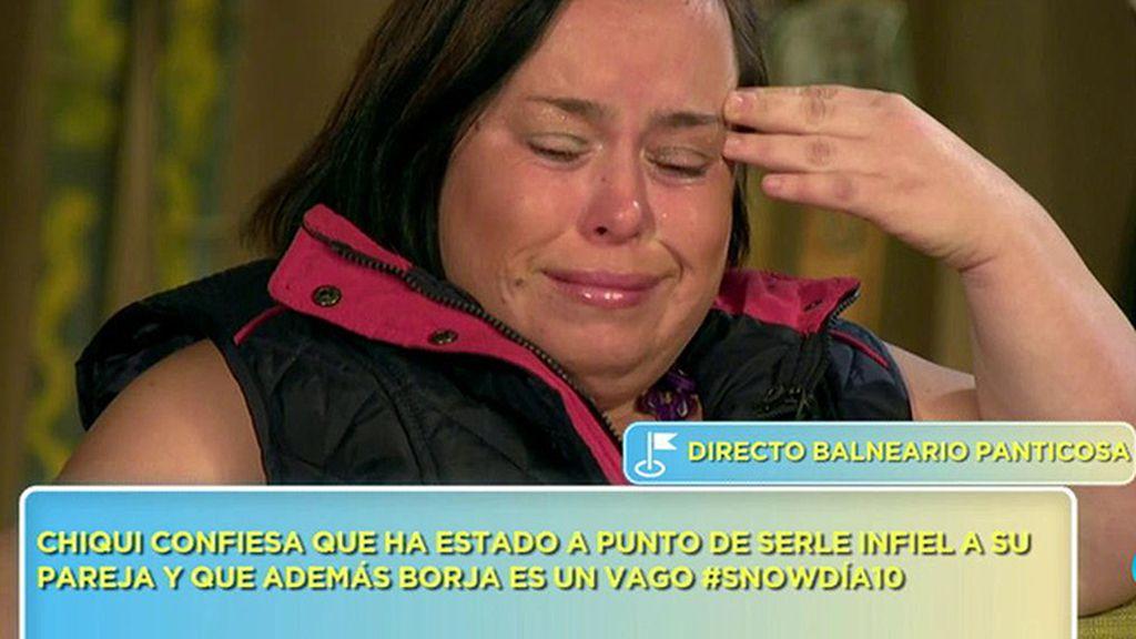 Chiqui confiesa que ha estado a punto de ser desleal a su marido y se derrumba