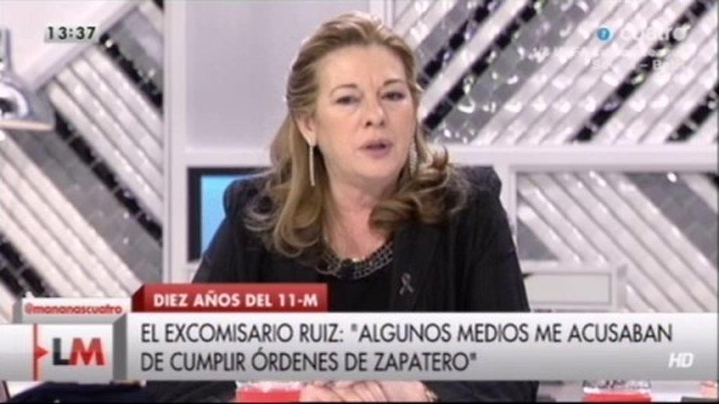 """Pilar Manjón: """"No se ha hecho justicia con el ex comisario. El linchamiento fue gratis"""""""