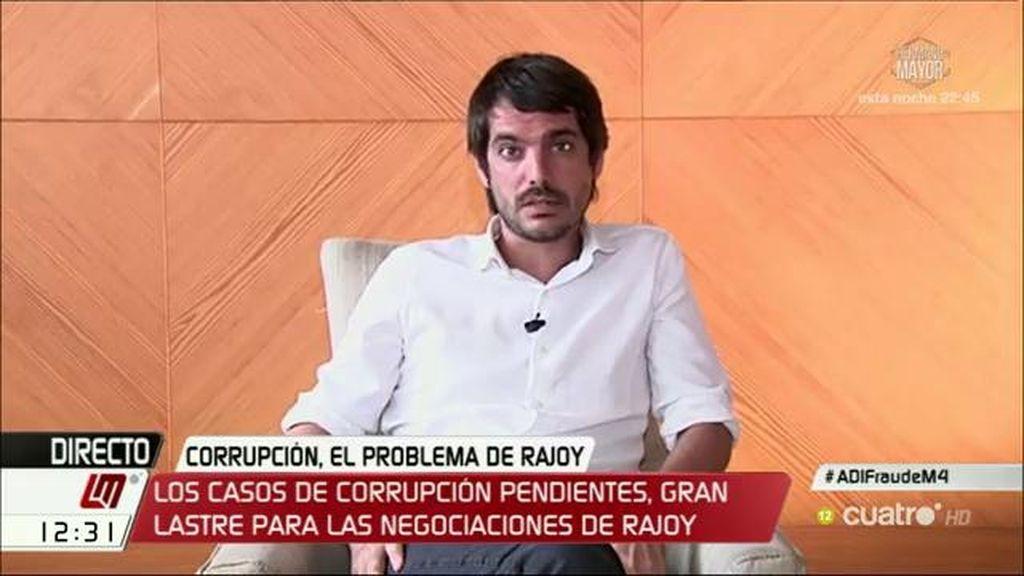 """Ernest Urtasun: """"Espero que Sánchez aguante la presión pero si no quiere dar la abstención, debe intentarlo"""""""
