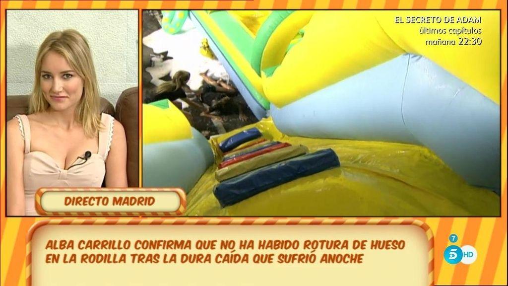 """Alba Carrillo, tras su caída: """"Voy a 'Hable con ellas' aunque sea a rastras"""""""