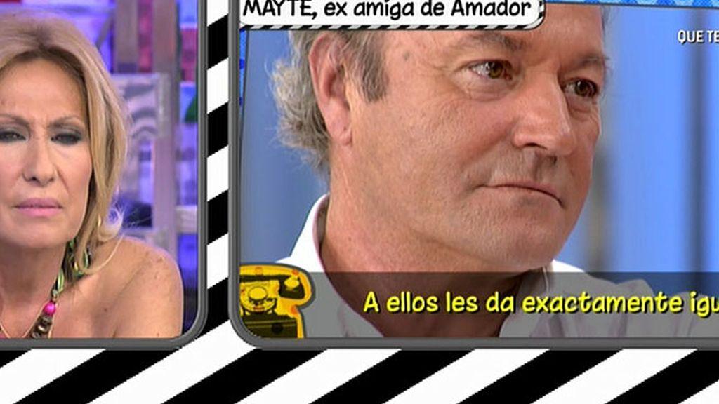 """Mayte, examiga de Amador: """"Creo que Marisa sigue viéndose con él"""""""