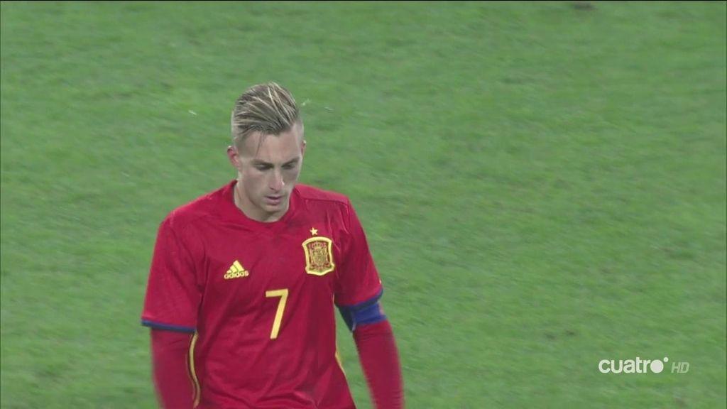 ¡Gol de España! Deulofeu abre el marcador de penalti y encarrila la eliminatoria  (0-1)