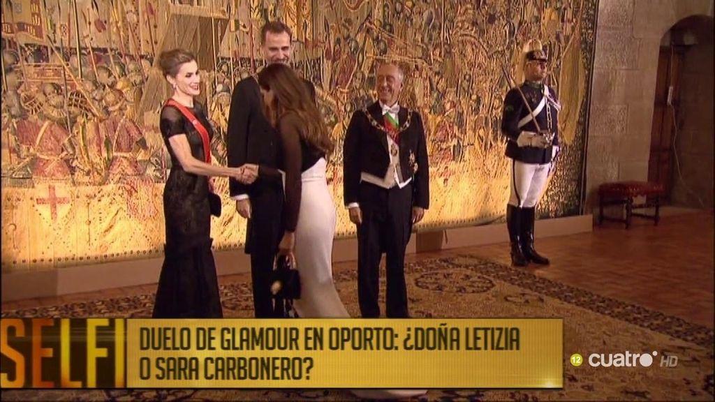 Duelo de glamour en Oporto: ¿Doña Letizia o Sara Carbonero?