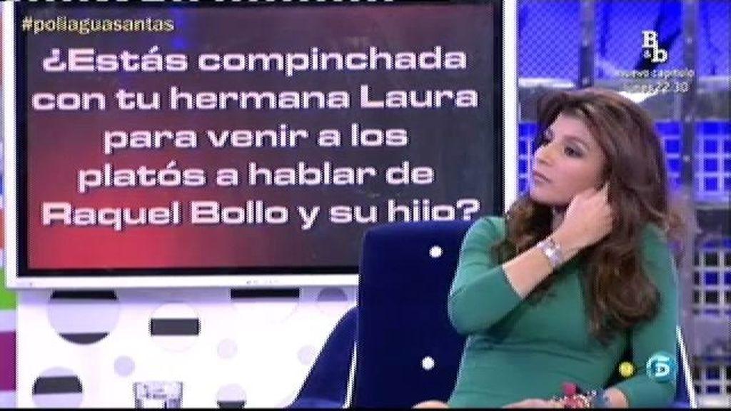 Aguasantas no está compinchada con su hermana para hablar de Raquel Bollo