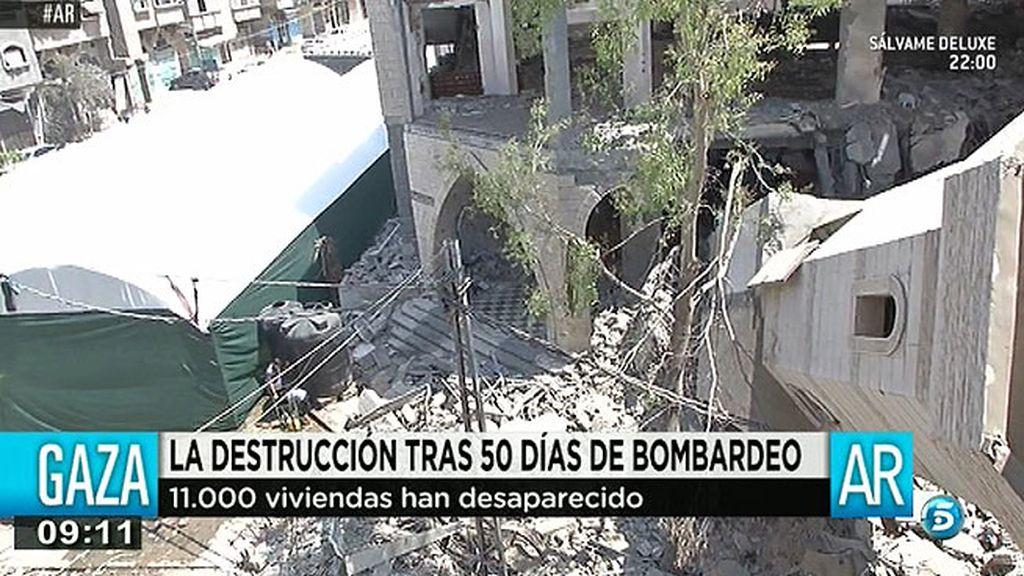 La destrucción tras 50 días de bombardeo