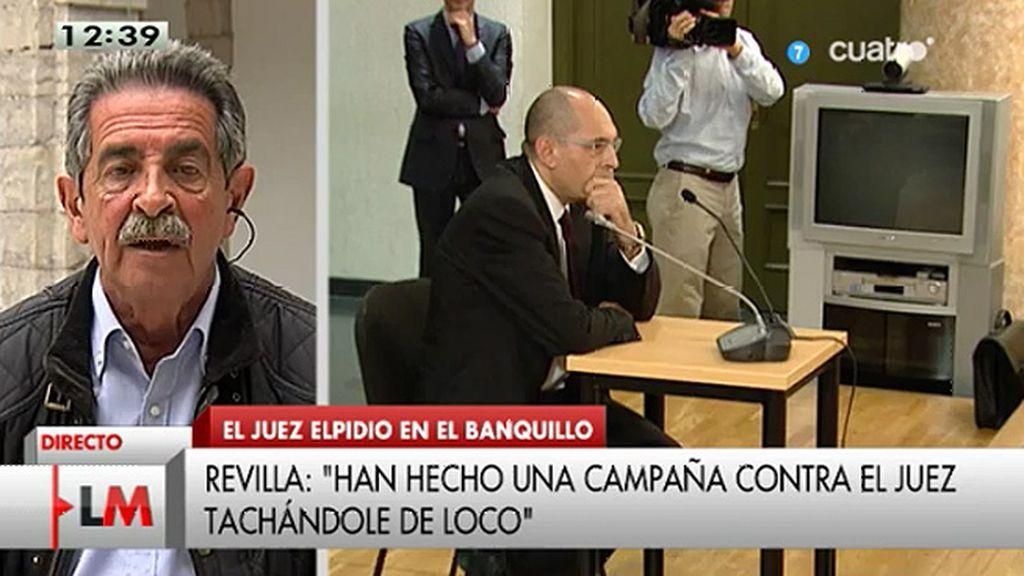 """Revilla, de E. Silva: """"Han iniciado esto con el fin de que desaparezca de la esfera judicial"""""""