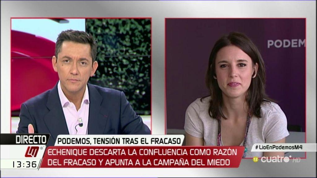 """Montero, sobre Podemos: """"Confundir debate con guerra es malsano para la democracia"""""""