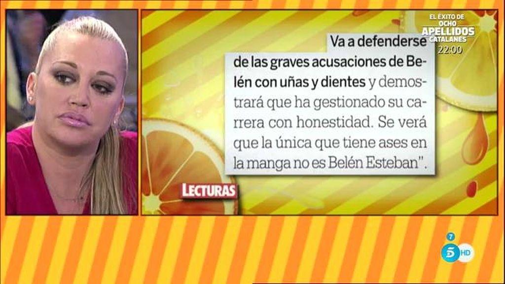 """Toño Sanchís """"no tiene miedo"""" y señala a la pareja de Belén Esteban, según 'Dicen!'"""