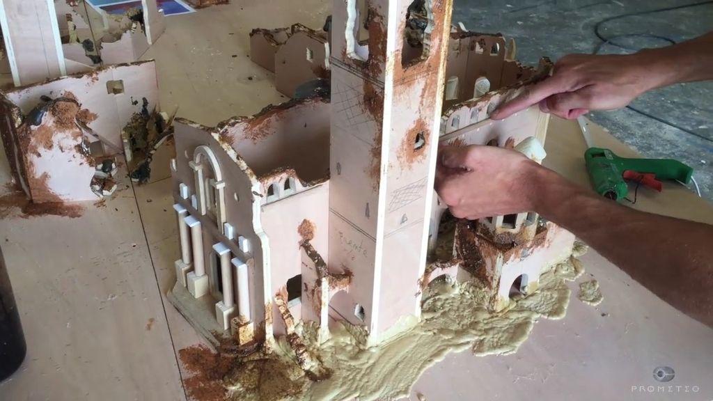 Así se creó la maqueta de Belchite para el aniversario de Cuarto ...