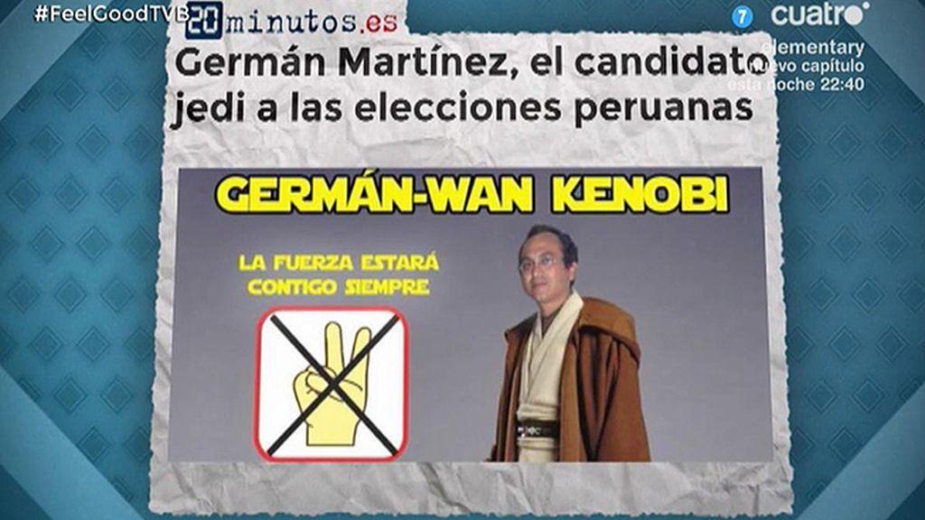 Germán Wan-Kenobi, el candidato político 'jedi' de las elecciones de Perú
