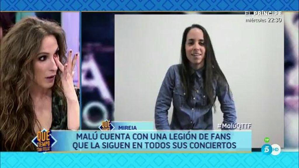 Intercambio de regalos entre Malú y Terelu: Un anillo y vídeo de sus fans