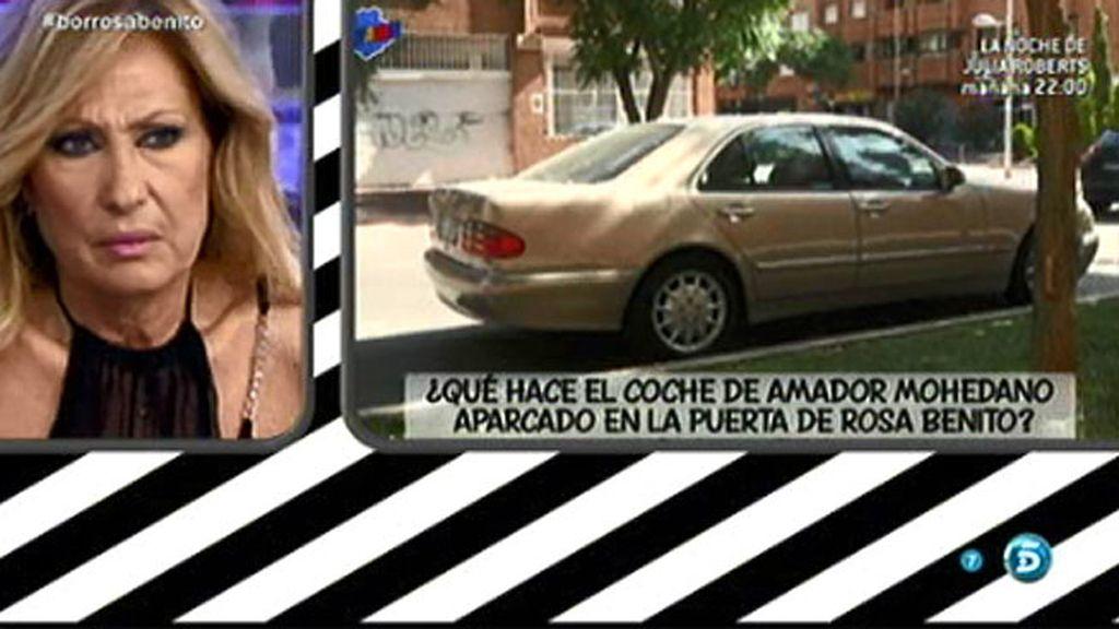 Rosa Benito explica qué hace el coche de Amador Mohedano en la puerta de su casa